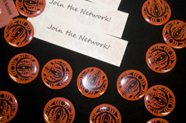 ICWRN buttons on table with join the network bookmark