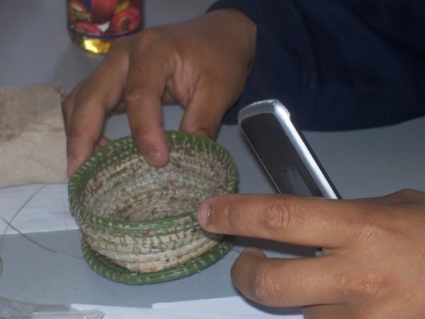 Kamloops basket weaving