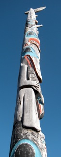 Haida Gwaii totem pole at training session