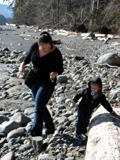 Haida Gwaii Family on beach