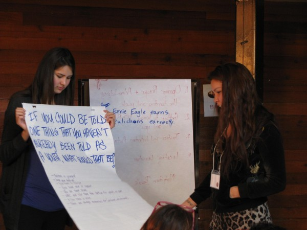 Former youth in care at the ICWRN - VACFSS training session